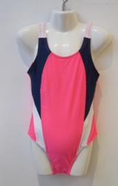 Badpak roze/blauw AA011