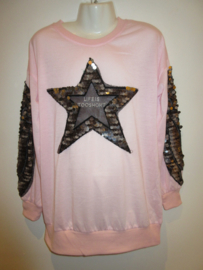 Sweater roze met ster