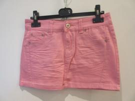 Jeans rok licht roze