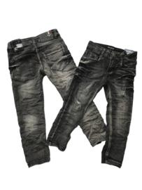 Jeans vaal zwart Boom Kids met scheurtjes