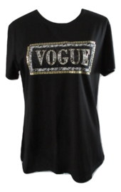 Shirt zwart vogue