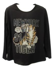 Longsleeve zwart met tijger