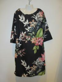 Jurk zwart bloem ( moeder/dochter jurken)