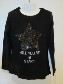 Longsleeve zwart met ster van Zero