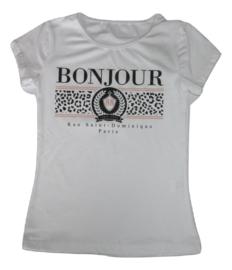 Shirt wit bonjour