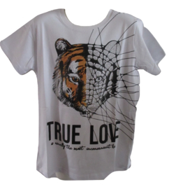 Shirt wit tijger true love