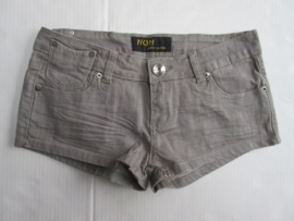 Hotpants grijs stretch