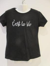 Shirt zwart Cest la vie