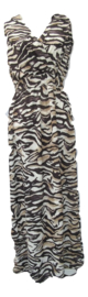 Jurk luipaard print zwart/beige