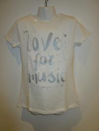 Shirt wit love for music van Zero