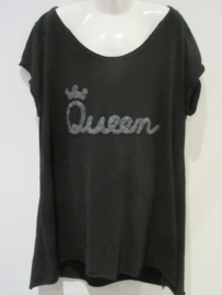 Shirt zwart Queen