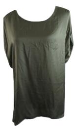 Shirt groen voorkant satin