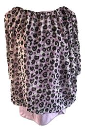Blouson lila luipaard print