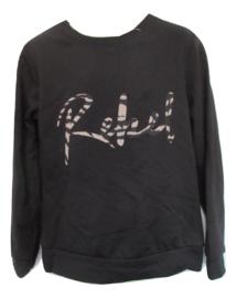 Sweater zwart rebel
