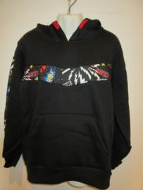 Sweater zwart 9567 met bies