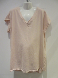 Shirt roze basic v-hals