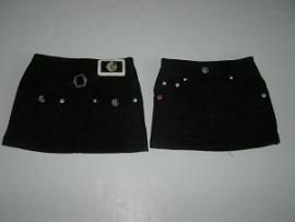 Jeans rokje kort zwart van Zero