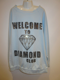 Sweater blauw welcome