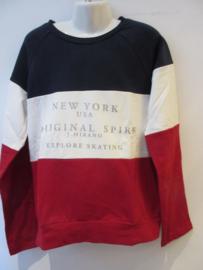 Sweater rood/wit/blauw van J-Mirano