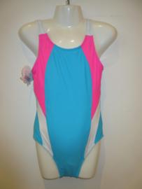 Badpak aqua blauw/roze  AA011