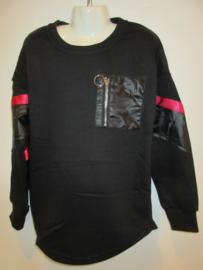 Sweater zwart S & C rits