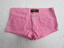 Hotpants licht roze stretch