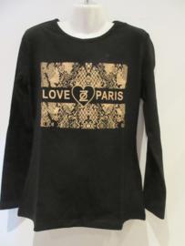 Shirt zwart love paris van Zero