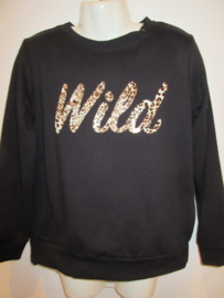 Sweater zwart wild