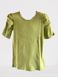 Shirt met pof mouwtje groen van Kids Up