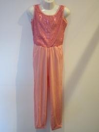 Jumpsuit roze met glitter van Zero
