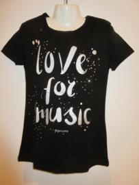Shirt zwart love for music van Zero