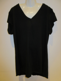Shirt zwart basic v-hals
