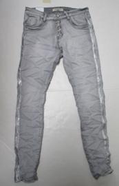 Jeans grijs Jewelly baggy met bies