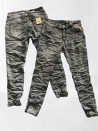 Toxic Jeans grijs met knopen