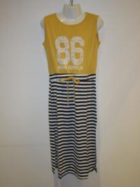 Maxi jurk streep/geel 86
