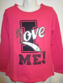 Longsleeve roze LOVE van Zero