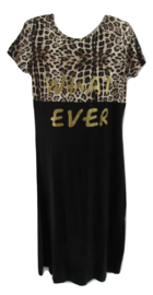 Maxi dress zwart what ever van Zero