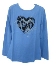 Longsleeve blauw Zero met hart