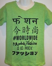 Shirt groen worlwide van J. Mirano