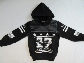 Sweater zwart met capuchon van US*FreeStar