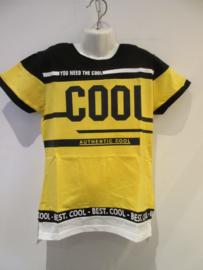 Shirt zwart/geel cool