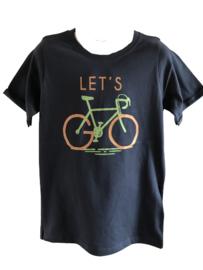 Shirt blauw fiets van Kids Up