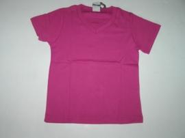 Shirt basic v-hals van J. Mirano fuchsia