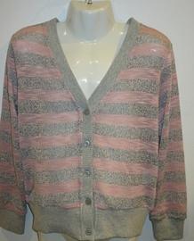 Vest l. roze/grijs met knoopjes van Zero