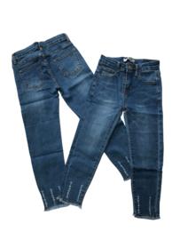 Jeans bleu G66 met rafeltjes onder