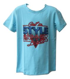 Shirt blauw JM style