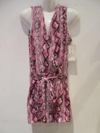 Jumpsuit snake print roze