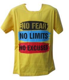 Shirt geel tekst van Kids Star