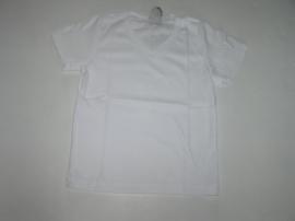 Shirt basic v-hals wit van J. Mirano wit