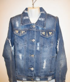 Spijker jasje met scheuren